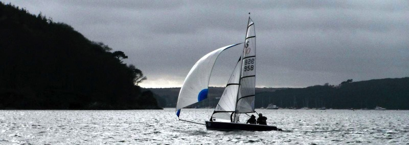 Of like a Rocket –a Merlin Rocket – the RS400 being the Rockets natural successor. It's not only Oysters that the Helford shares with Whitstable – Kent - Morrison designed racing dinghies.