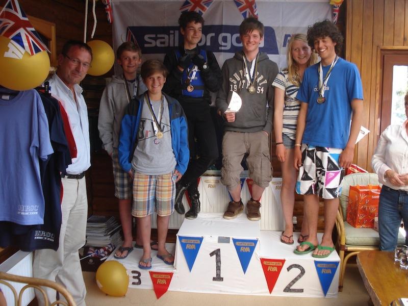 Feva Class medal winners